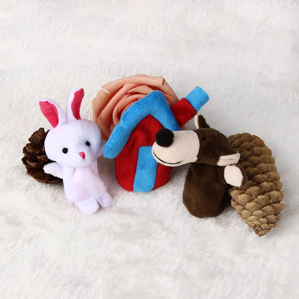 3pcs Animal Finger Puppet Plush