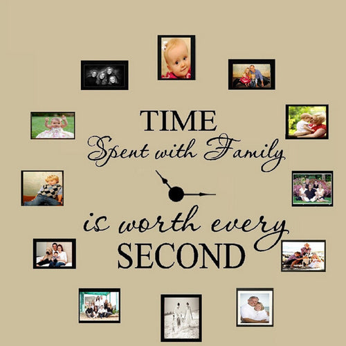 Clock Wall Stickers - Family TIme