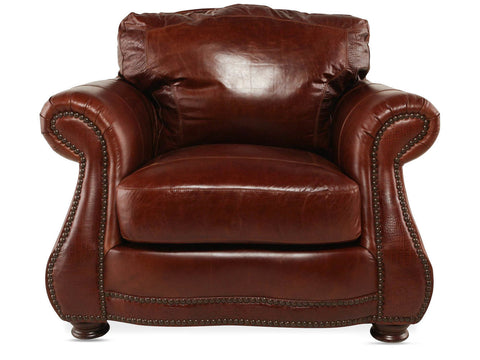 USA Leather Brandy with Alligator Chair