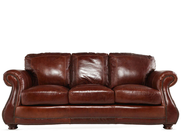 USA Leather Brandy with Alligator Sofa
