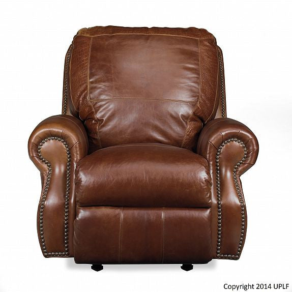 Usa Leather Brandy with Alligator Power Recliner