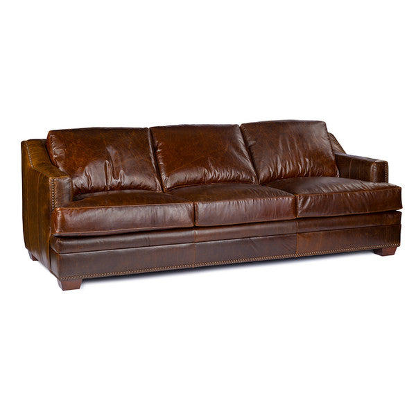 USA Leather Antique Brown Sofa