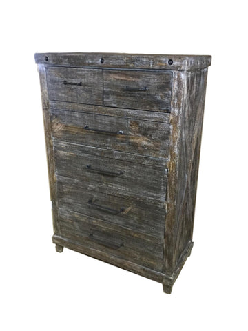 Industrial Barnwood Chest
