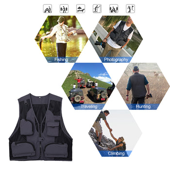 Gilet  multipoches pour vos  sorties loisirs