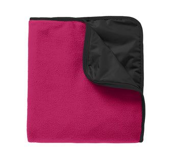 Fleece & Poly Travel Blanket.