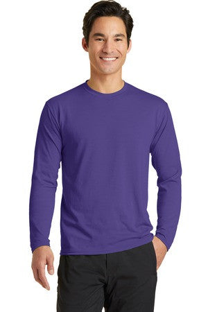 Unisex Style Long Sleeve Performance Blend Tee
