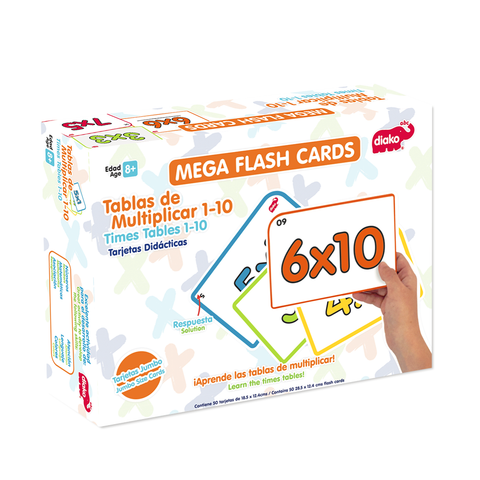 FLASH CARDS TABLAS DE MULTIPLICAR