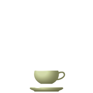 B09-B10 BEVEL Cup + Saucer - Kiwi, in stock