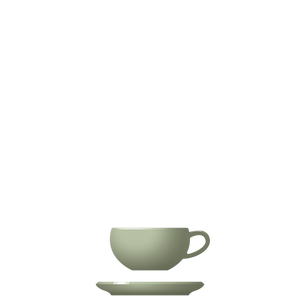 B09-B10 BEVEL Cup + Saucer - Sage, in stock