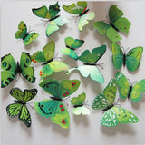 Butterfly Wall Stickers Green