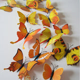 Butterfly Wall Stickers Yellow