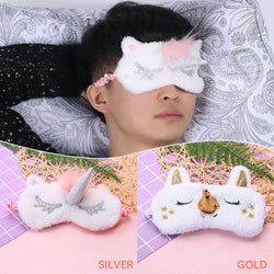 Unicorn Eye Mask Woman Sleeping