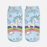 unicorn socks for women blue