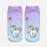 unicorn socks for women purple