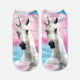 unicorn socks womens multicolored