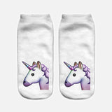 Unicorn socks white with unicorn head