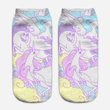unicorn socks for women lilac