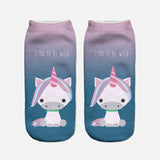 Unicorn ankle socks blue