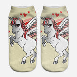 unicorn socks for women white