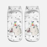 unicorn socks womens white