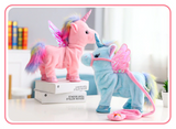 Walking Unicorn Toy Pink Blue
