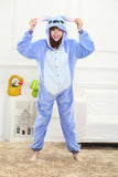 blue adult unicorn pajamas