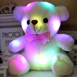 20cm Colorful Glowing Luminous Plush Teddy Bear