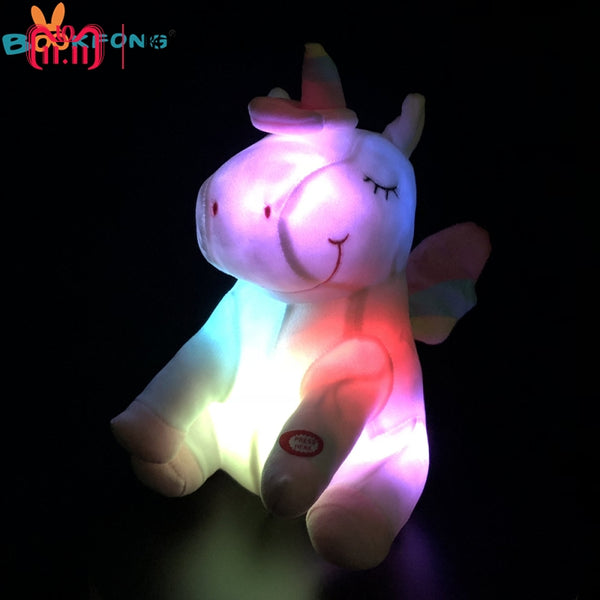 30cm Unicorn Plush Toy LED Light
