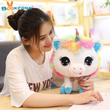 Woman with Rainbow Unicorn Toy