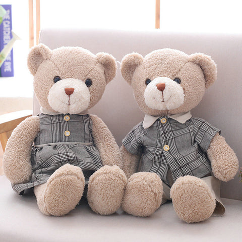 Male and Female Teddy Bears