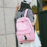 Canvas Backpack Pink