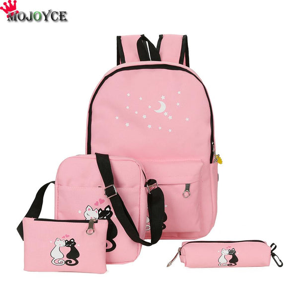 Canvas Backpack 4pcs