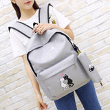 canvas backpack worn by girl