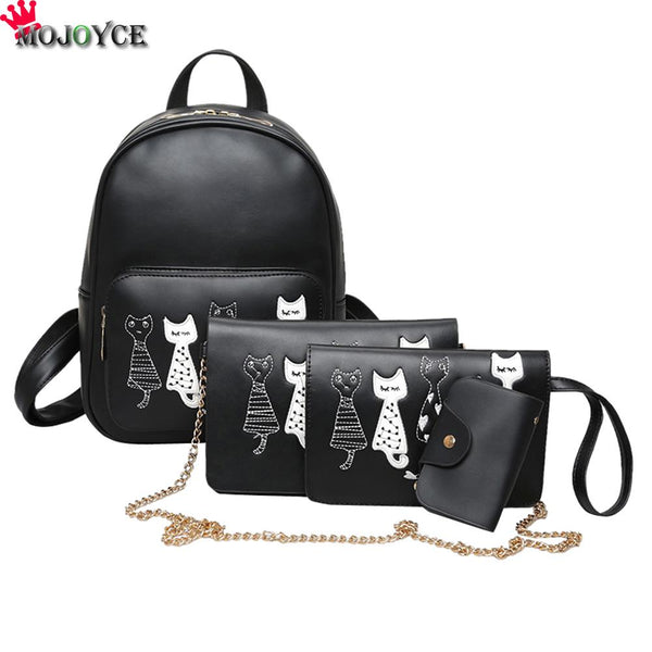 PU Leather Backpack Black