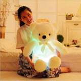 led glow teddy bear white