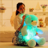 led glow teddy bear blue
