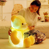 led glow teddy bear yellow