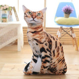 50cm 3D Simulation Stuffed Cat Toys | Plush Animal Cat Sofa Cushion