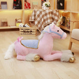 Giant Unicorn Plush Toy | Jumbo Pink/Blue Unicorn