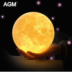 Enchanting Luna MOON Rechargeable LED Night Light