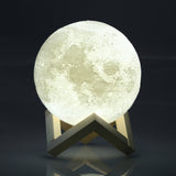LED Moon Night Light White
