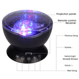 Starry Sky LED Night Light Black