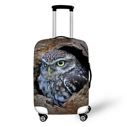 Travel Luggage Cover Owl