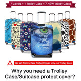 Owl Print Protective Baggage Cover For 18-30 Inch Trolley Suitcase | Elastic Waterproof Travel Luggage Cover