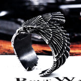 Stainless Steel Eagle Ring for Bikers Black
