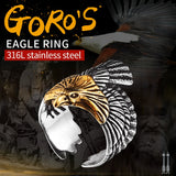 Stainless Steel Eagle Ring for Bikers