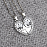 Best Friends Broken Heart Pendant