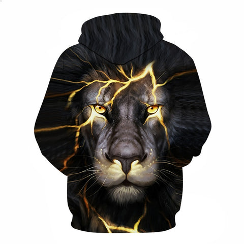 Men/Women 3D Lion Sweatshirt / Hoodie