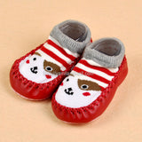 Toddler Moccasin Slippers Red