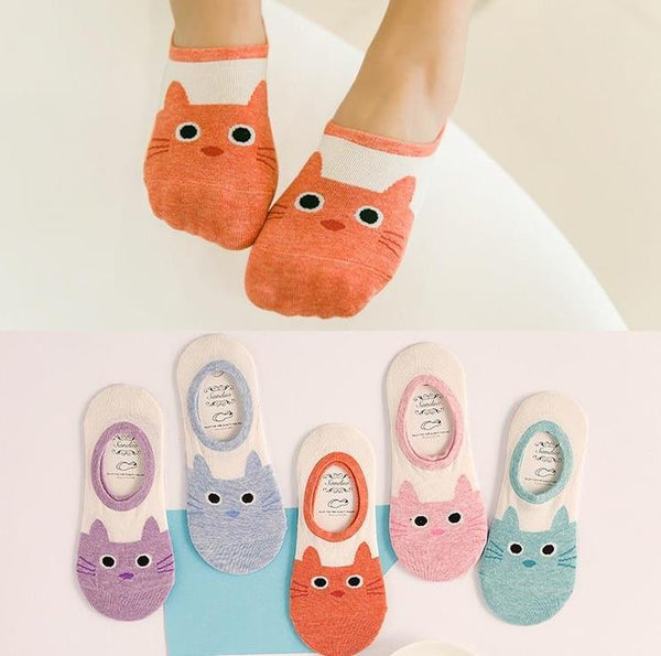 CAT Cotton Bamboo Fiber Ankle Socks